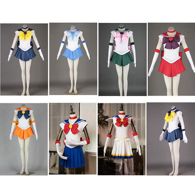 Pretty Soldier Sailor Moon Costume Cosplay Girl Fancy Dress Party Outfits Female