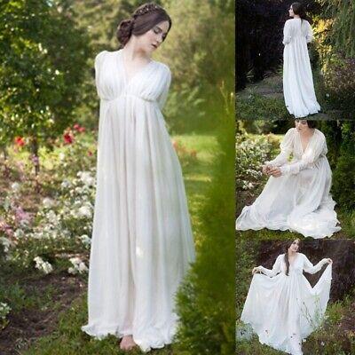 Medieval Dress Women White Style Renaissance Dress Floor Length - Renaissance Style Dress