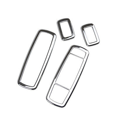 Chrome Inner Window Switch Panel Cover Bezel Trim For Jeep