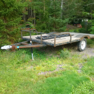 6.5X12 Utility Trailer - 4 Person Side by Side capable