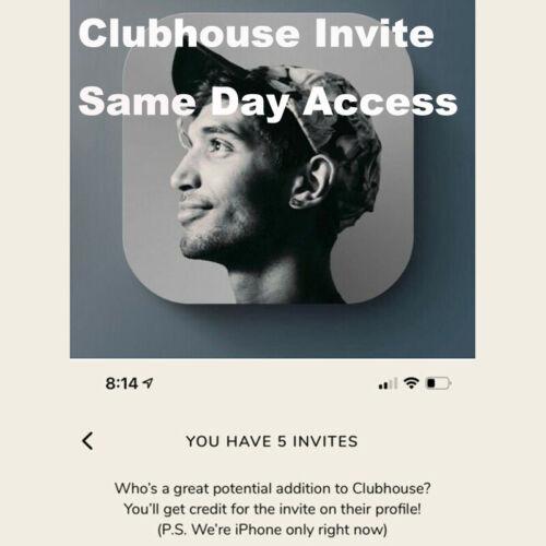 Clubhouse Invite 🔥 Instant Delivery 🔥App Invitation (GUARANTEED)