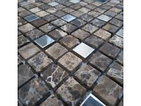 ROCKIES BEIGE MOSAIC TILES BRAND NEW 19 AVAILABLE 30X30CM