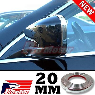 Chrome Molding Trim Exterior Guard Lower Window Side Door Strip Roof 20mm x 3m