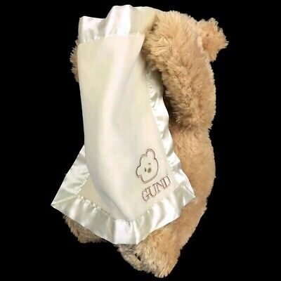 GUND baby Peek-a-Boo Teddy Bear Animated talks moves Stuffed Animal Plush 10 in.