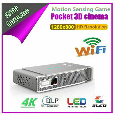 High 8500 Lumens 1080P Android DLP 3D Wifi HDTV Home Theater Projector RJ45 HDMI