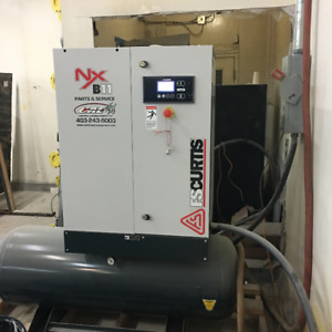 FS-CURTIS compressor 80 CFM 80 Gal rotary Screw