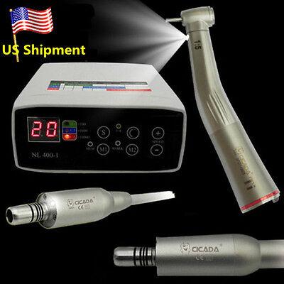 Cicada Dental Electric Motor 15 Fiber Optic High Speed Handpiece Contra Angle