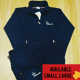 Moncler Collared Tracksuit In Black, Navy Grey: Small, Medium, Large,