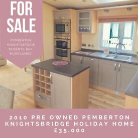 The Pemberton Knightsbridge (42ft x 14ft) luxury holiday home sited at Regents Bay, Morecambe.