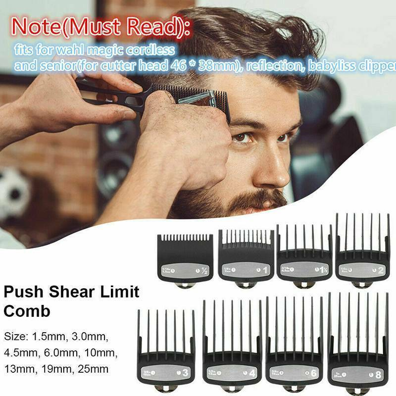 8Pcs Premium Hair Limit Clipper Cutting Guide Comb Guards Tr