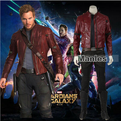 Guardians of the Galaxy Cosplay Star Lord Costume Peter Quill Outfit Jacket