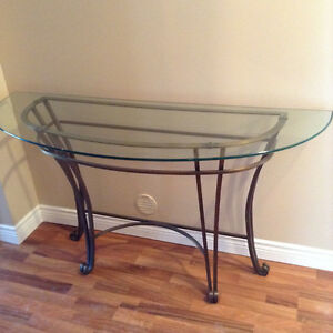 Beautiful Glass and Iron Sofa Tables