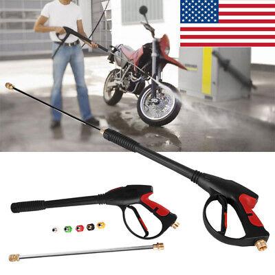4000PSI High Pressure Car Power Washer Spray Gun Wand/Lance Nozzle Set