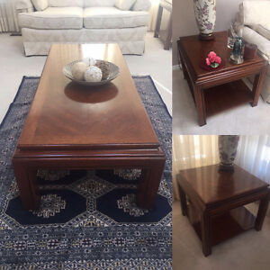 Solid Wood Coffee table and 2 side tables - MOVING SALE!