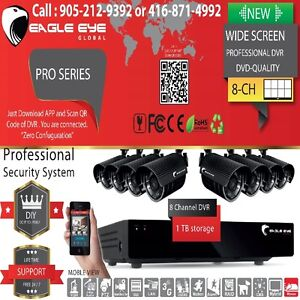 4 Channel DVR Kit Weather Proof Cameras with One Year Warranty