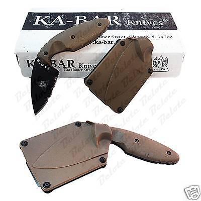 Ka-Bar KaBar TDI Law Enforcement Knife Coyote Brown 1477CB