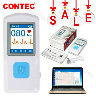 Portable Ecg Monitor Bluetooth Heart Beat Monitor Ekg Machine Electrocardiogram