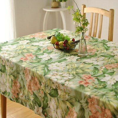 Thick Cotton Table Cloth Fresh Leaf Flower Fashion  Hotel Drape Factory Outlets ()