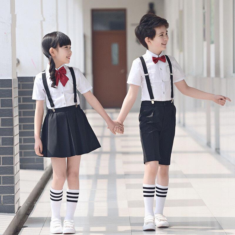 Toddler Kids Formal Short Suit Wedding Party Outfits Girls School Skirts  Sets | eBay