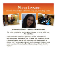 Piano Lessons - Close to Downtown