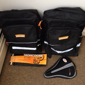 New Mongoose Pannier Bags and Gel Seat Cover