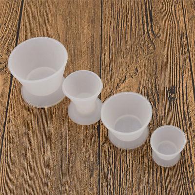 4 Pcs Dental Lab Non-stick Flexible Silicone Dappen Dish Mixing Bowl Cup Acrylic