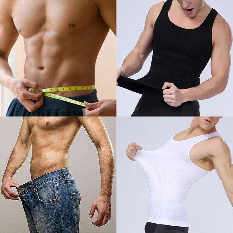 Mens Body Shaper Shirt Slim Tank Top
