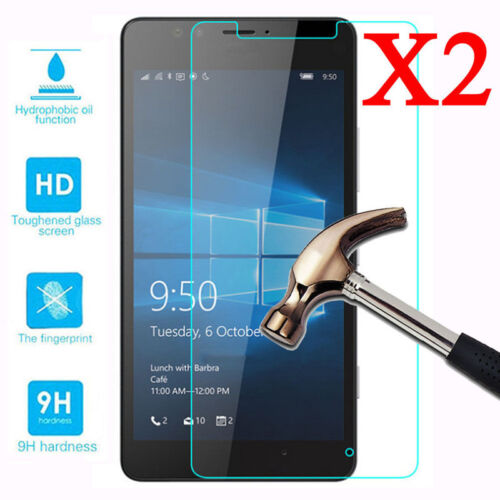 2X Tempered Glass Screen Protector Guard For Nokia Lumia 640 650 950 XL