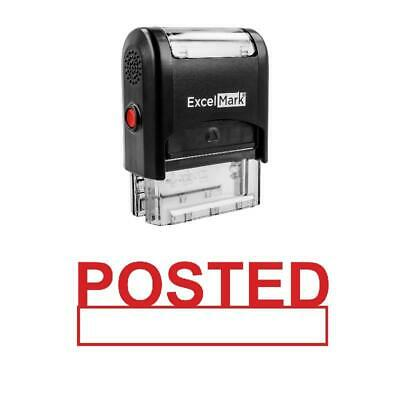 Box Posted Stamp - Self-inking Red