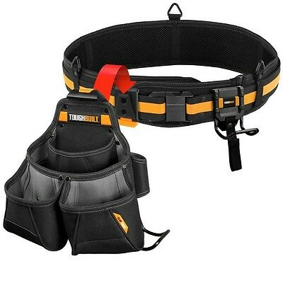 TOUGHBUILT Pro Framer Tool Belt Set, Black (3-Piece) NEW