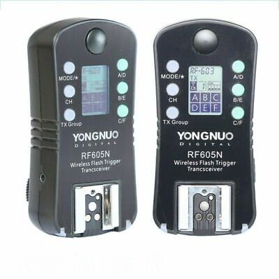 YONGNUO RF605N 605 Flash Speedlite Trigger Set Wireless w/ LCD for Nikon Camera