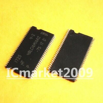 2 PCS MT48LC16M16A2P-75IT TSOP-54 48LC16M16A2 256Mb SDRAM memory for sale  Shipping to Canada