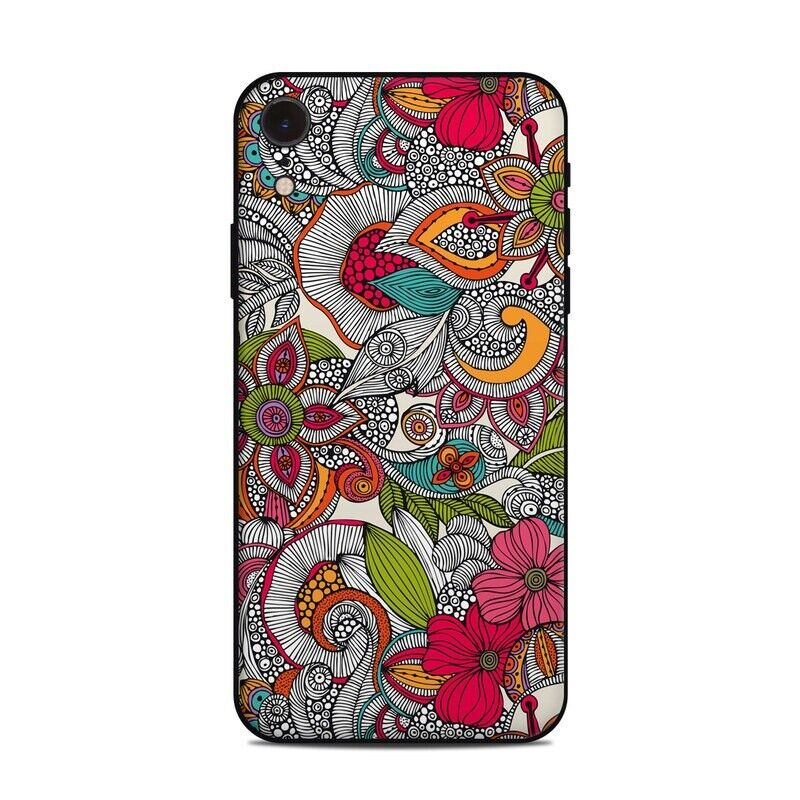 iPhone Xr Skin - Doodles Color by Valentina Ramos - Sticker Decal