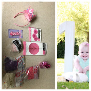One birthday supplies and photo shoot items. Peterborough Peterborough Area image 1