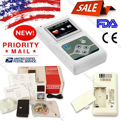 Usa24hour 12-channel Ecg Holter Systemsrecorder Analyzer Software Ekg Monitor