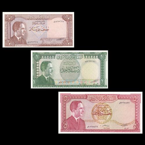 Jordan set 3 PCS, 1/2 1 5 Dinar, ND, UNC