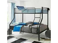 🔵💖🔴SPECIAL DEAL OFFER🔵💖🔴NEW TRIO SLEEPER METAL BUNK BED SAME DAY EXPRESS DELIVERY