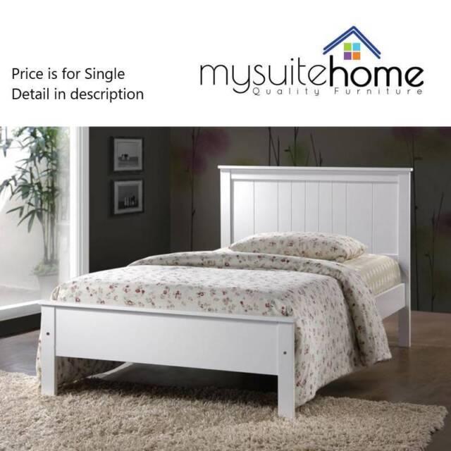 Rojo White Single KING S Timber Bed Frame | Beds | Gumtree Australia ...
