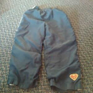 Boys Size 6/7 Navy Superman Athletic Lined Pants