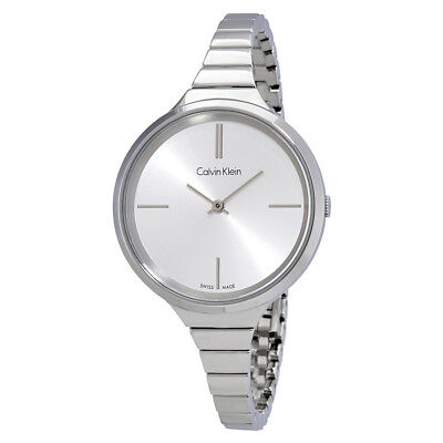 Calvin Klein Lively Silver Dial Ladies Stainless Steel Watch K4U23126