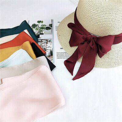 Long Satin Scarf - Women Chiffon Skinny Scarf Long Solid Color Faux Satin Silk Ribbon Tie Neck Bag
