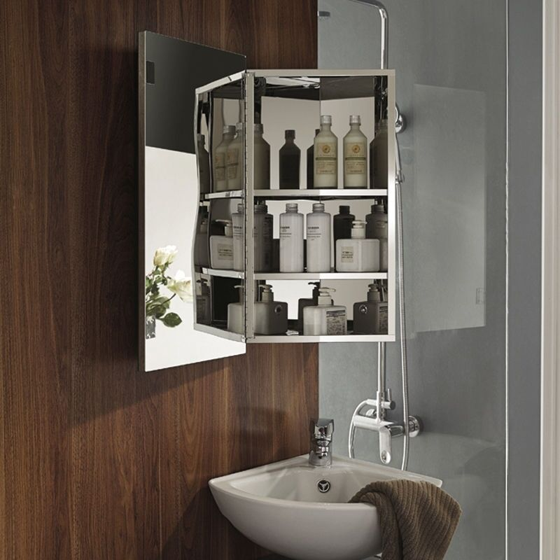 wall mounted cabinets for bathroom storage cabinet mirror stainless steel corner wall mounted 28090