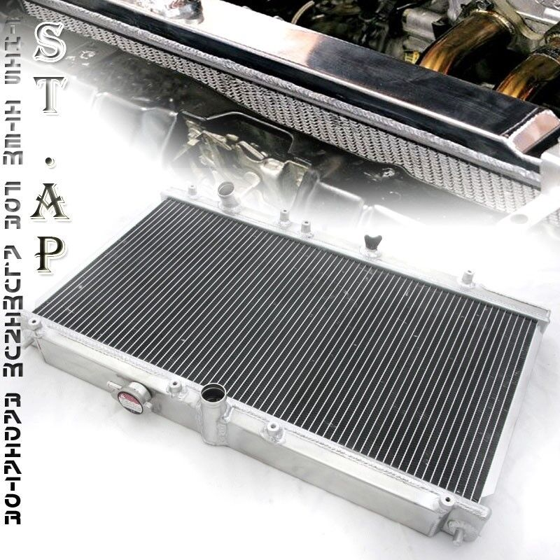 94-97 Honda Accord Mt  Manual Bolt-On Aluminum Dual Core Row Racing Radiator