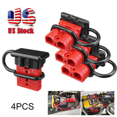 4 Pcs 50a Battery Trailer Plug Quick Connector Kit Connect Disconnect Winch Kits