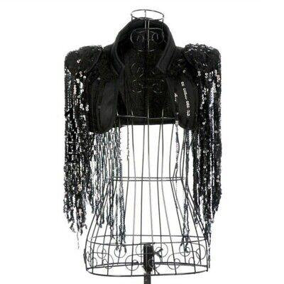 Women Sequin Waistcoat Cropped Shrug Jacket Dance Show Jazz Tassel - Jazz Dance Show Kostüm