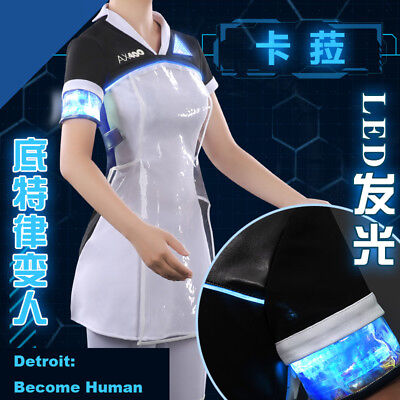 Detroit Become Human Kara Fancy Dress with LED Light Cosplay Costume - Costumes With Led Lights