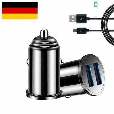 Mini 3100mA Zigarettenanzünder 2x USB Ladegerät KFZ Auto Ladeadapter Handy Lader Mini Auto Usb