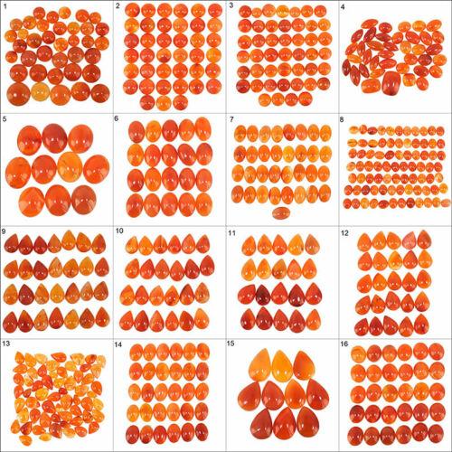 Natural Carnelian Finest Orange Loose Cabochon Gemstones Wholesale Lots