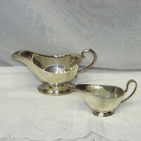 SILVER PLATE GRAVY BOAT & SAUCE BOAT FOR SALE $10 EACH