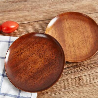 Kitchen Equipment Wooden Round Plate Food Bakery Fruit Dish Wood Gift O3 for sale  Shipping to Nigeria